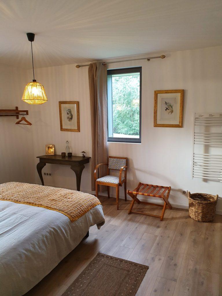 les chambres d'hôtes au jardin sur l'eau : chambre marguerite